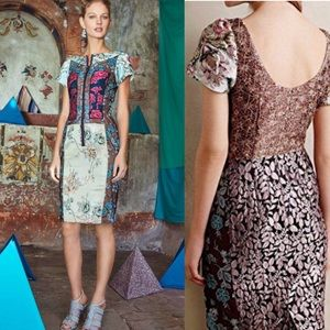 Beguile by Byron Lars Pieced Brocade dress 4